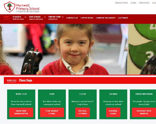 Hartwell Primary School website image