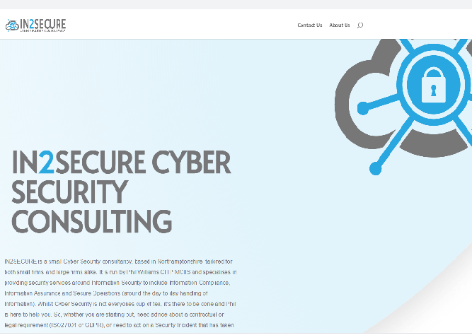in2secure website image